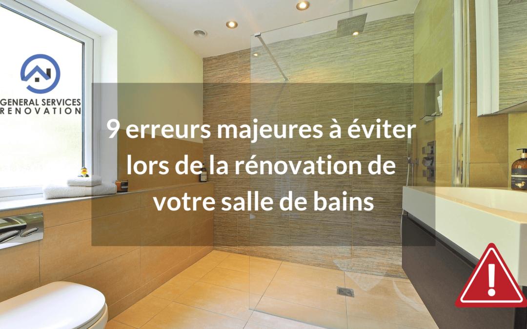 9 erreurs majeures à éviter lors de la rénovation de votre salle de bains